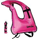 Lyuwpes Aufblasbare Schnorchelweste für Erwachsene, Schnorcheljacke, Tauchen, Schwimmen, Sicherheit,...