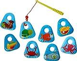 HABA 303606 - Angelset Meerestiere | Badespielzeug mit bunten Meeresmotiven | Set aus...