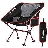 CANWAY Campingstuhl Campingstühle faltbar klappbar tragbar Angel Stuhl Camping Stuhl verstellbar Strandstuhl...