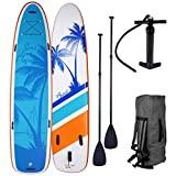"""SUP Board Stand up Paddle Paddling Surfboard """"Family"""" 370x87x15cm bis 210kg aufblasbar..."""