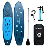 WOWSEA Surfboard aufblasbar Paddle Board Set mit Größe: 305 x 81 x 15 cm, Belastung 150kg