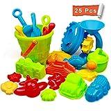 StillCool Strand Sandspielzeug Set mit Strandtasche Mesh,25 Stück Strandspielzeug für...