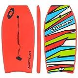 Osprey Body Board mit Leine, Slick Boogie Board, mit sichelförmigem Schwanz, Unisex, Shatter, rot