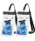 Mpow Wasserdichte Handyhülle Waterproof Phone Case 7,0 Zoll (2 Stück) Handy Wasserschutzhülle DOPPELT...