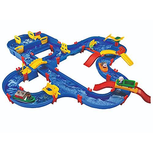 BIG Spielwarenfabrik 1650 AquaPlay - AmphieWorld - 145x156 cm große Wasserbahn, inklusive...