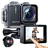 APEMAN Action Cam A100,Echte 4K 50fps WiFi 20MP Touchscreen Unterwasserkamera Digitale...