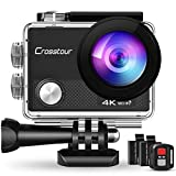 Crosstour CT9000 Action Cam Unterwasserkamera (4K 20MP WiFi Unterwasser 40M Wasserdicht...
