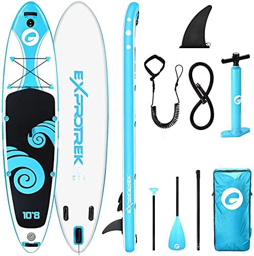 Exprotrek Stand Up Paddling Board, aufblasbares SUP Board, Stand Up Paddle Board Set, 6...