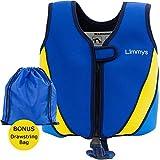 Limmys Premium Neopren Schwimmweste, ideale Schwimmhilfe für Jungen und Mädchen, EXTRA Kordelzugtasche...