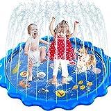 MOZOOSON Wasserspielzeug Garten für Kinder Splash Pad & Spielzeug Sprinkler Play Matte...