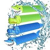 joylink Wasserspritzpistolen, 4 Stück Wasserspritzpistole Schaumstoff Kinder Schaum Wasserpistole...