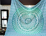 Aakriti Gallery Tapestry Queen Ombre Hippie Tapestries Mandala Bohemian Psychedelic...