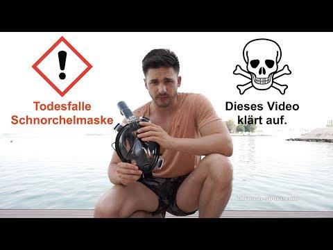 Gefahr der Schnorchelmaske! CO2 Wert als Ursache für Tod & Bewusstlosigkeit?! Was ist gefährlich?