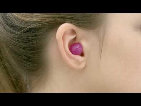 Anwendung von OHROPAX Stöpseln aus Silikon (VOR-Ohr Prinzip)