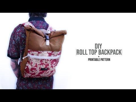 Roll Top Backpack DIY