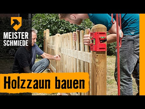 Holzzaun bauen | HORNBACH Meisterschmiede