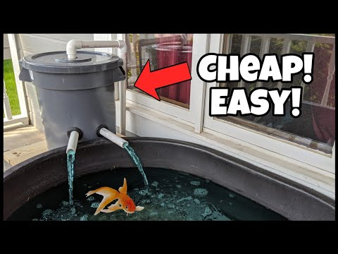 DIY Pond Filter Made EASY From Trash Can!