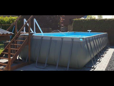 INTEX Frame Pool 732x366x132 Aufbau und Fazit noch einem Jahr
