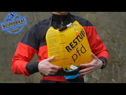 PFD by RESTUBE® AUSPROBIERT - Aufblasbare Schwimmhilfe für Stand Up Paddling / SUP