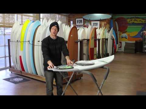 How to attach a surfboard traction pad