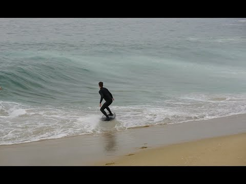 Skimboarding Small, Perfect Waves at The Wedge - Raw Footage
