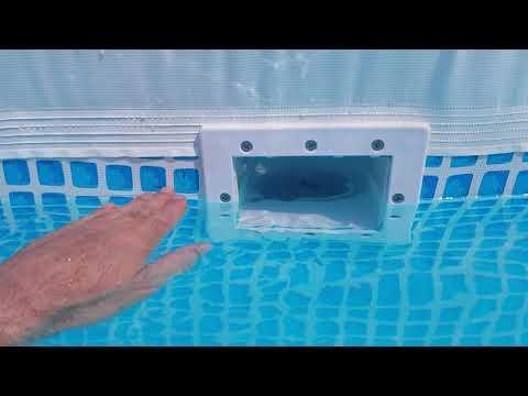 Above ground pool skimmer proper installation