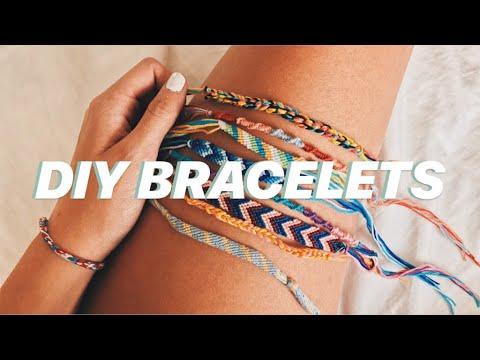 DIY: 4 EASY FRIENDSHIP BRACELETS   jada draper