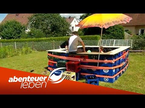 Pool aus Bierkästen: Einfach & günstig zum selber bauen!   Abenteuer Leben   Kabel Eins