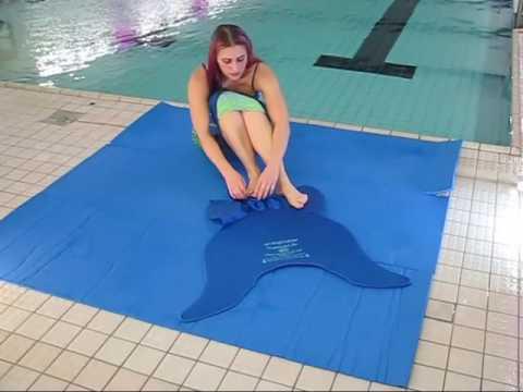 Kinder Meerjungfrau Flosse Mermaid Monoflosse Schwanz Schwimmflosse Bademode DE