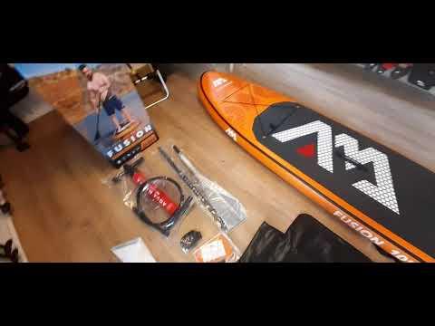 Testbericht | 2020 AQUA MARINA Fusion sup Lieferumfang unboxing | SURFDEAL