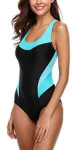 Charmo-Damen-Badeanzug-Racing-Athletic-Strandkleidung