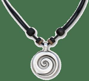 HANA-LIMA-Lederkette-Koru-Surferkette-Halskette